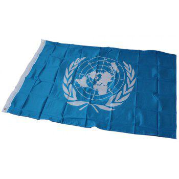 Chaude 90 x 150 Cm ONU Drapeau Polyester Country Office Événement Parade Holiday Home Decor - Bleu