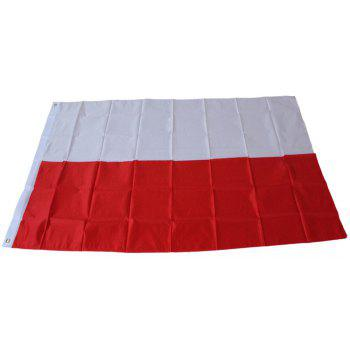 Flag of Poland Flying Flag Polyester Outdoor Indoor 150X90 Cm Celebration Banner - COLORMIX