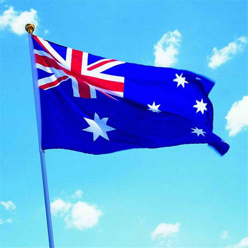 90 x 150CM Australian Flag Flag-Mounted Polyester Outdoor Interior Banner for The Celebration - COLORMIX