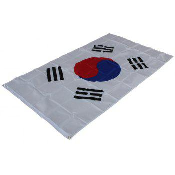 Hot 90 x150 Cm Korean Flag Polyester Parade Holiday Home Decoration New Fashion - COLORMIX