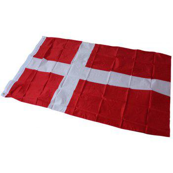 Hot Sale 90X150 Cm Danish National Flag Hanging for Holiday Home Decor - COLORMIX