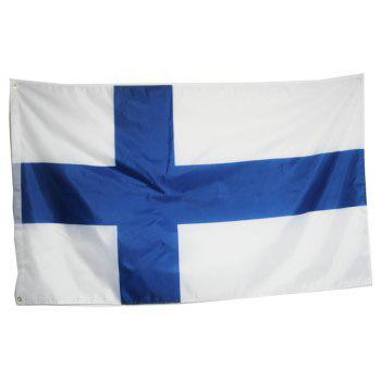 Hot Sale 90X150 Cm Finland Flag Polyester Standard Banner Outdoor Interior Home Decor - COLORMIX