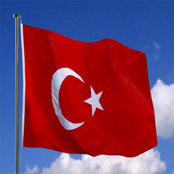 Hot Sale High Quality 90X150 Cm Turkish Flag Polyester Standard Banner Outdoor Indoor Home Decoration - COLORMIX