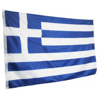 Hot Sale High Quality 90X150 Cm Greek Flag and Banner Decorated with Blue and White Stripes - COLORMIX