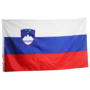 Hot High Quality 90X150 Cm Slovenia Flag Polyester Office Event Parade Holiday Home Furnishings Fashion - COLORMIX