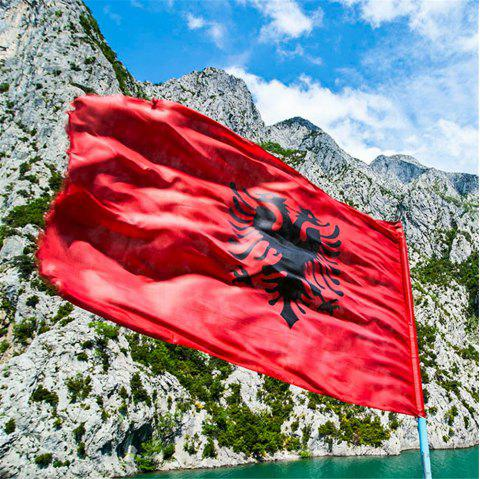 High Quality 90X150 Cm Albanian Flag Double-Headed Hawk Outdoor Interior Banner - COLORMIX