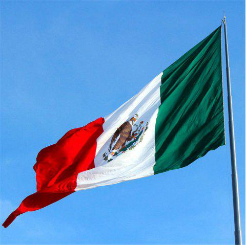 High Quality 90X150 Cm Mexican Flag Polyester Festive Home Super Poly Indoor Interior Decorating - COLORMIX