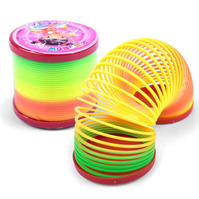 Big Creative Plastic Rainbow Spring Magic Tricks Toy for Kids - COLORMIX