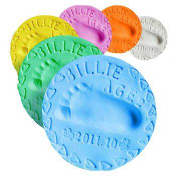Baby Handprint Footprint Natural Calcium Inkpad Modeling Clay for Parent-child Interactive - BLUE