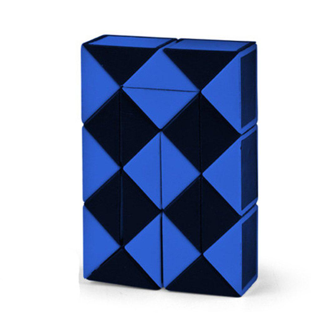 Interesting Puzzle Folding Rubik Cube Toy - BLUE
