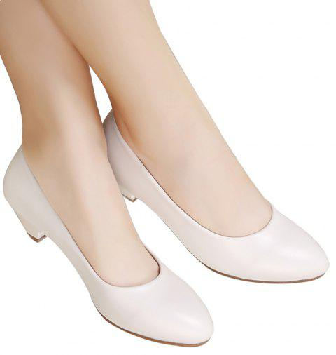 dec55963d8300 YALNN High-Heeled Leather Medical New Classic Office Women's Shoes - WHITE  38