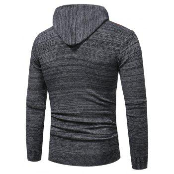 2018 New Foreign Trade Men Fashion Spell Hooded Long-Sleeved Sweater - BLACK L