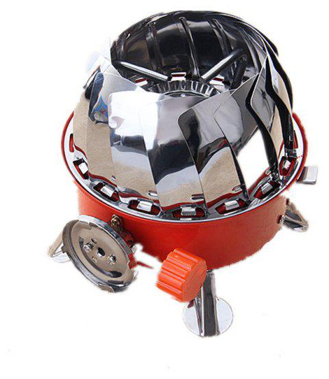 Windproof Gas Stove Camping Steel Picnic Portable High Quality Outdoor Cooking Tools - RED/WHITE