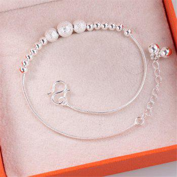 Wild Bells Stars Silver Plated Anklets - SILVER