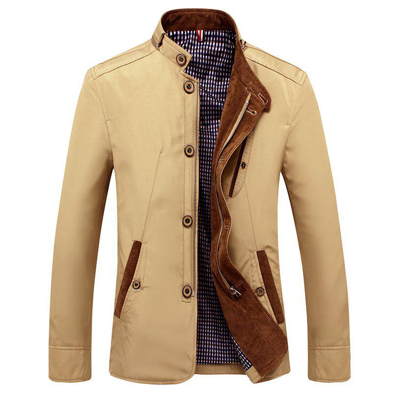 Veste de printemps et d'automne New Business Casual Men - Kaki M