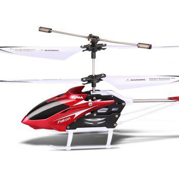 SYMA W25 2CH Indoor Small RC Electric Aluminium Alloy Remote Control Helicopter for Kids - RED 1PC