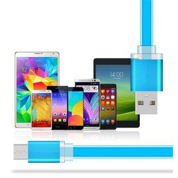 1 Meter Micro USB Data Charger Cable Cord for Android Phones Candy Colors - BLUE