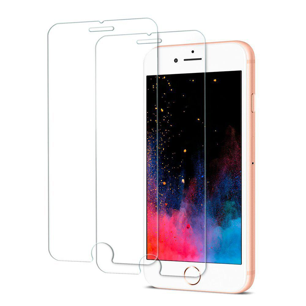 2PCS Screen Protector for Iphone 8 Plus/7Plus HD Full Coverage High Clear Premium Tempered Glass - TRANSPARENT