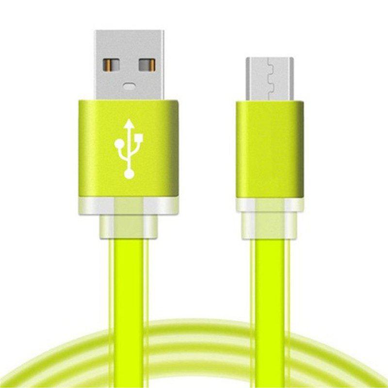 1 Meter Micro USB Data Charger Cable Cord for Android Phones Candy Colors - GREEN