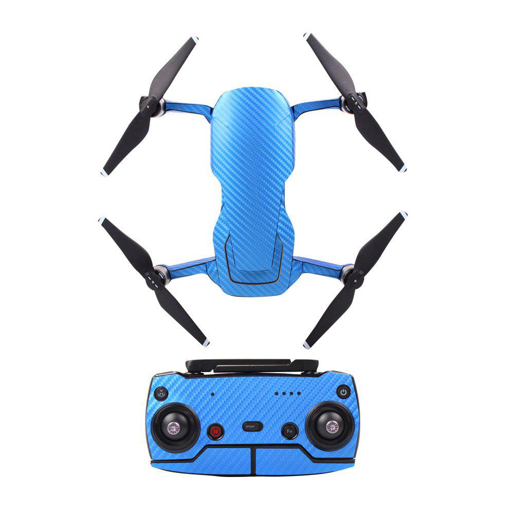 Waterproof PVC Carbon Grain Graphic Stickers Full Set Skin Decals for DJI MAVIC AIR - BLUE