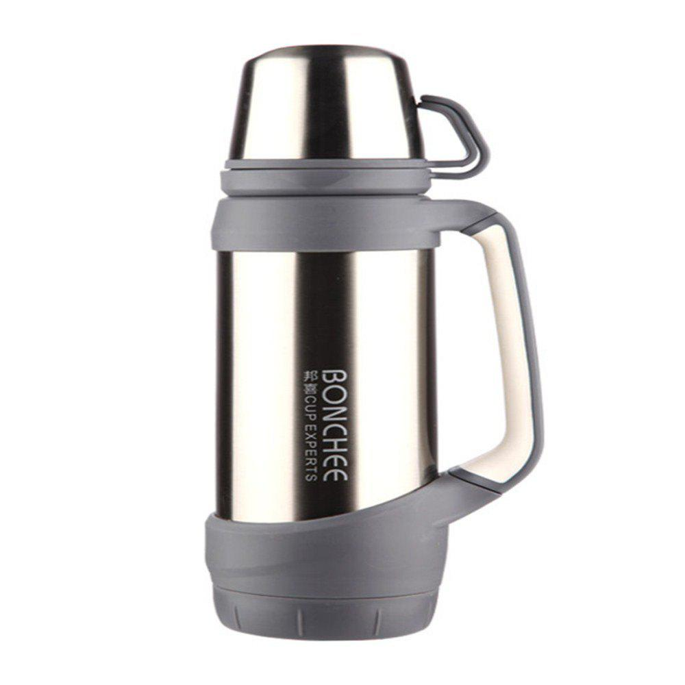 Multi-functional Stainless Steel Outdoor Thermos Cup - SILVER