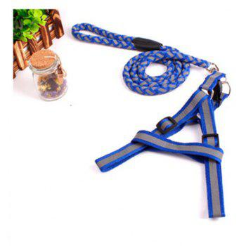 Dog Traction Rope with Chest Straps - BLUE SIZE S
