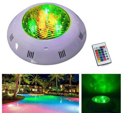 Jiawen 12W RGB Round LED Underwater Light IP68 Swimming Pool Fountain Spotlight Lamp with Remote Control AC 12 - 24V - RGB