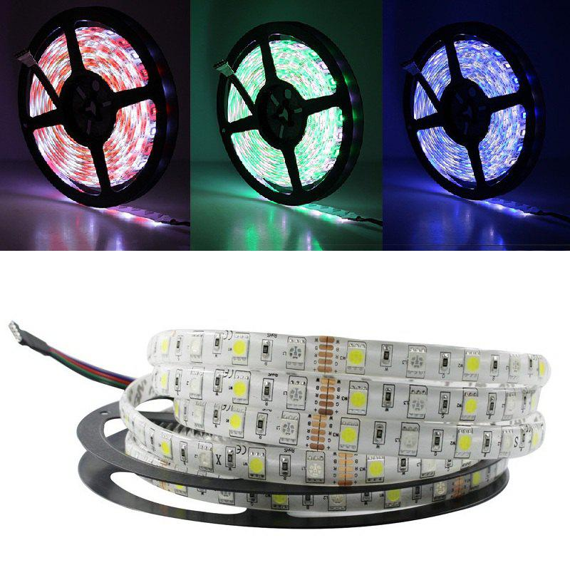 5M/LOT LED Strip Waterproof 5050 RGBW DC 12V Flexible LED Light RGB + Warm White 60 LED/M - multicolor RGB+WHITE