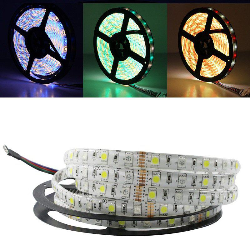5M/Lot LED Strip 5050 RGBW DC 12V Flexible LED Light RGB + Warm White 60 LED/M - RGB