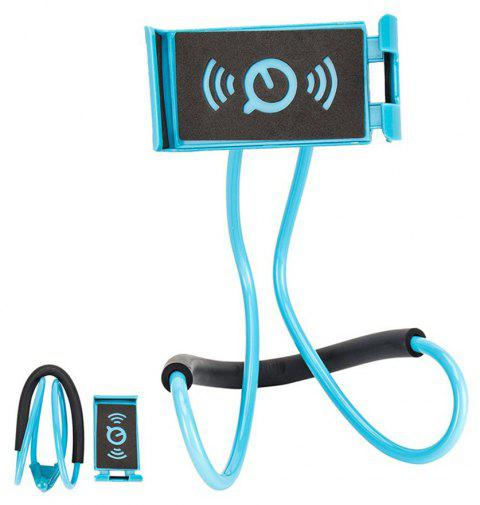Flexible Hanging Neck Lazy Necklace Bracket Smartphone Holder Stand for iPhone  Huawei - LIGHT BLUE