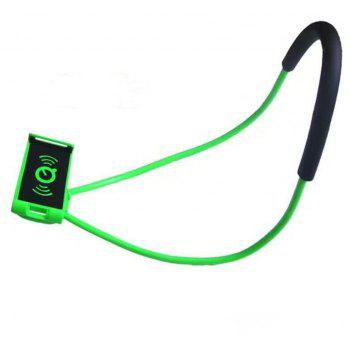 Flexible Hanging Neck Lazy Necklace Bracket Smartphone Holder Stand for iPhone  Huawei - GREEN