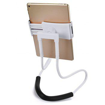 Flexible Hanging Neck Lazy Necklace Bracket Smartphone Holder Stand for iPhone  Huawei - WHITE