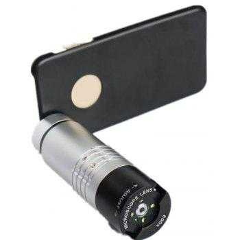 Universal Clip Mobile Phone Microscope Magnifier Lens 600X Optical Zoom Telescope Camera with LED Light for Samsung S6 - SILVER