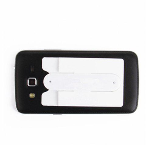 Silicone Wallet Mobile Smart Adhesive Sleeve Card Holder for Phone with Stand - WHITE
