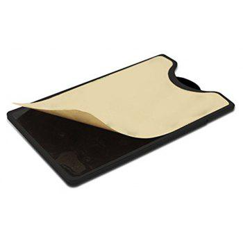 Silicone Wallet Mobile Smart Adhesive Sleeve Card Holder for Phone with Stand - BLACK