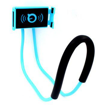 Flexible Hanging Neck Lazy Necklace Bracket Smartphone Holder Stand for iPhone Xiaomi Huawei - BLUE