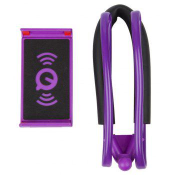 Flexible Hanging Neck Lazy Necklace Bracket Smartphone Holder Stand for iPhone Xiaomi Huawei - PURPLE
