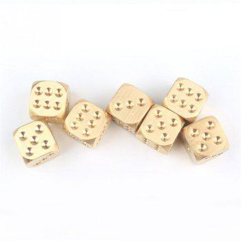 Golden Pure Color Does Copper Polyhedral Metal Solid Playing Game Tool - GOLDEN