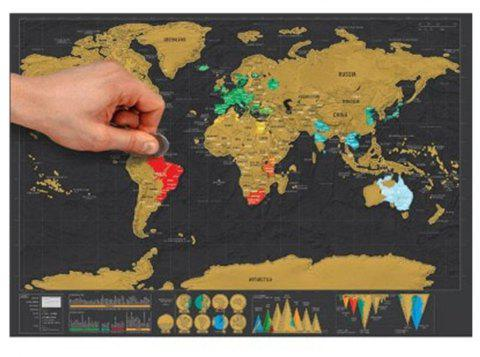 Scratch-off World Map Travel Trace Recorder - COLORMIX