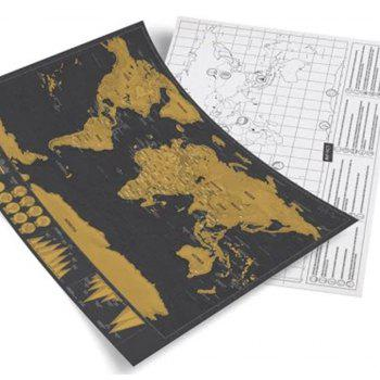 High Quality Large Size Personalized Scratch-off World Map Poster Travel Toy - COLORMIX