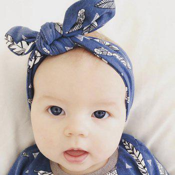 New Colorful Baby Headband Stretchable Headdress Kids Bow Knot Hair Band - MIXCOLOR
