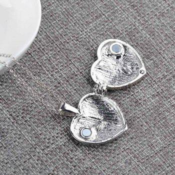 The New Fashion Friendship Letter Is Set with Diamond Box Pendan - SILVER