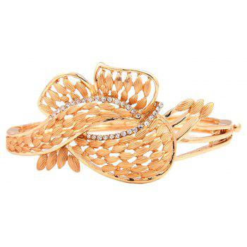 Gold-plated and Diamond-encrusted Necklace Bracelet with Four Pieces - GOLDEN