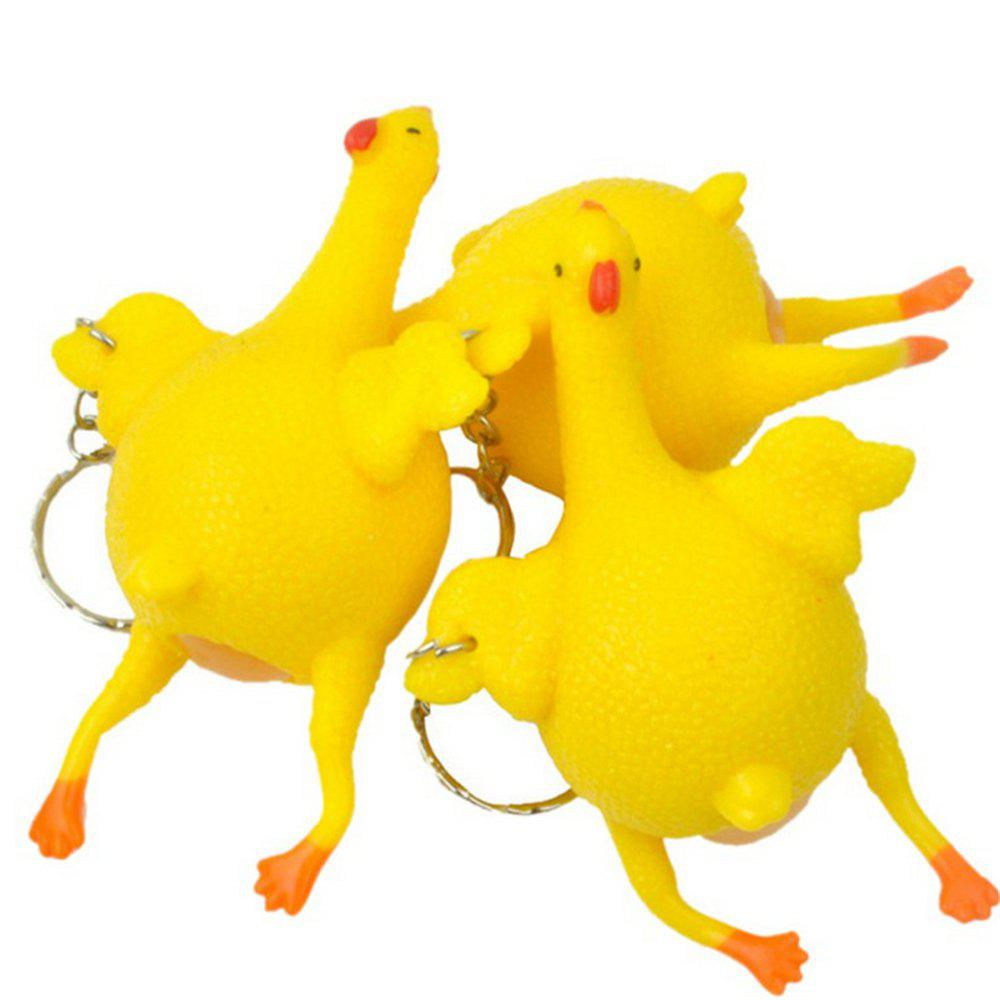Jumbo Squishy New Decompression Raw Chicken Vent Spoof Pinch Tricky Huge Mushy Toys 1PCS - YELLOW