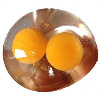 New Idea A Double Yellow Egg Water Polo Vent Toy Strange Gift Jumbo Squishy - YELLOW
