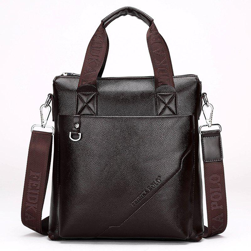 Nouveau Portable Casual Fashion Bag Homme - BRUN