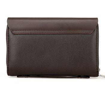 New Casual Fashion Hand Wallet Male - BROWN