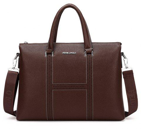 New Casual Shoulder Briefcase Male - BROWN