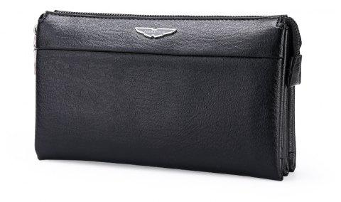 New Casual Personality Hand Wallet Male - BLACK