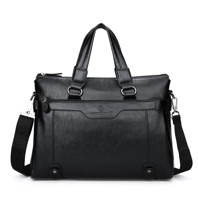 Nouveau Casual Fashion Briefcase Men - Noir